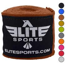 Elite Sports Boxing Hand Wraps for Kickboxing, Muay Thai, MMA Professional 180 inch handwraps for Men & Women