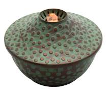 Boston Warehouse 63025 AquaFlame Water Fountain and Flameless Candle Table Torch, Patina