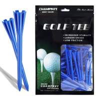 "Champkey SDP Hybrid Plastic Golf Tees Pack of 120 (1-1/2"", 2-3/4"" & 3-1/4"" Available) - Reduce Friction & Side Spin,More Durable & Stable Golf Plastic Tees"