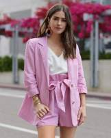 The Drop Women's Orchid Pink Oversized Turn-up Sleeve Blazer by @paolaalberdi