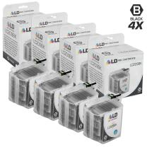 LD Compatible Ink Cartridge Replacement for Brother LC209BK Super High Yield (Black, 4-Pack)