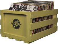 Crosley AC1004A-SG Record Storage Crate Holds up to 75 Albums, Sage