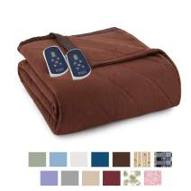Thermee Micro Flannel Electric Blanket, Cocoa, Queen