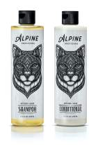 Alpine Provisions, Organic Shampoo & Conditioner for All Hair Types, Vetiver + Sage, 12.6 fl oz, Variety 2 Pack