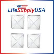 LifeSupplyUSA Replacement Air Purifier Filter 30931 Compatible with Hunter Air Purifier Models 30212, 30213, 30240, 30241, 30251, 30378, 30379, 30381 & 30382, Pack of 4 Filters