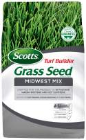 Scotts Turf Builder Grass Seed Midwest Mix - 3 lb., Withstands Harsh Winters and Hot Summers, Mix for Deep Greening, Disease-Resistance and Self-Repair, Seeds up to 1,300 sq. ft.