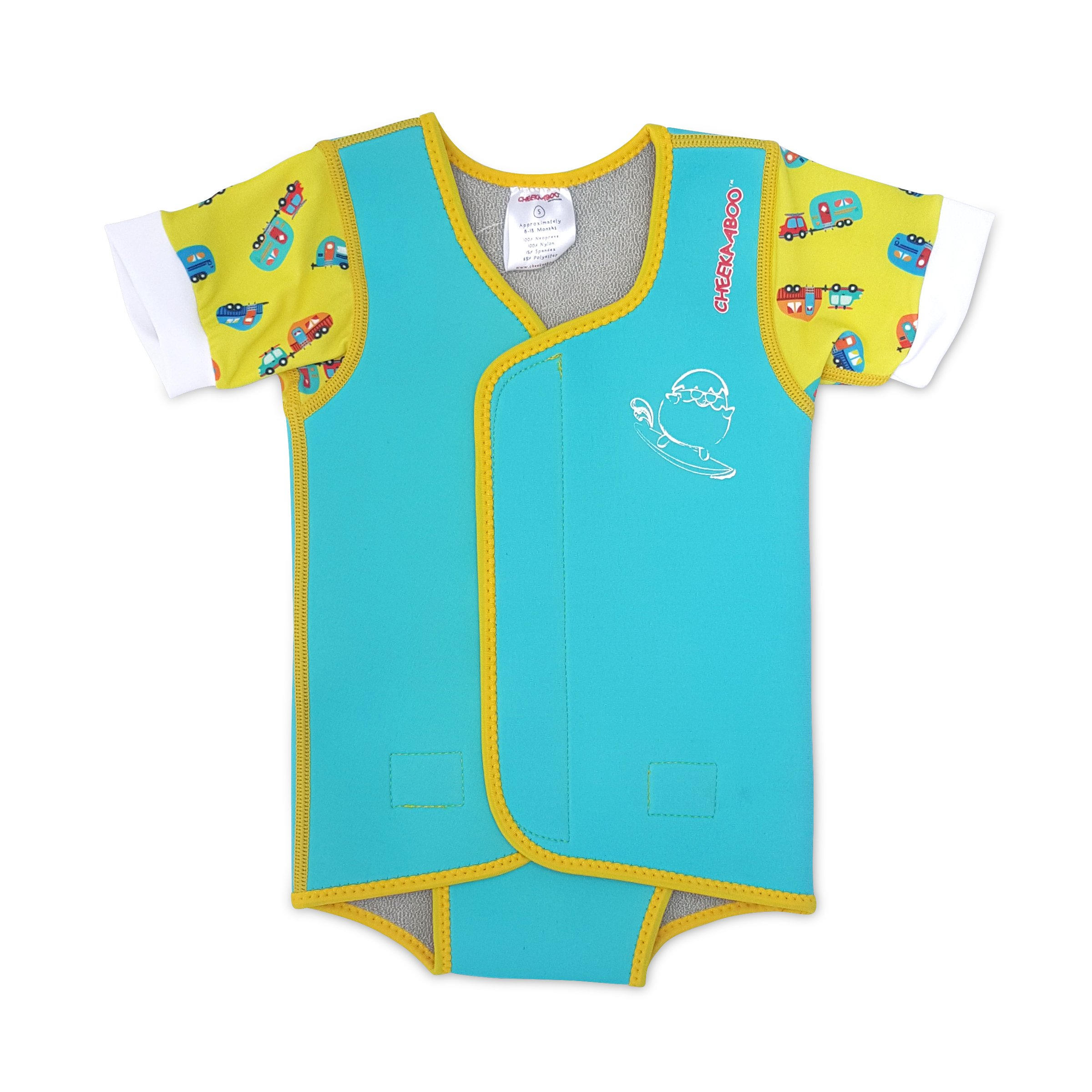 Cheekaaboo Waterbabes Baby Toddler UPF50+ Thermal Swim Wrap for Boys and Girls, 6-30 Months