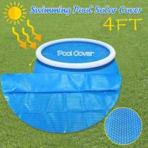 Solar Cover for Above Ground Pool - Round Solar Swimming Pool Cover, Garden Inflatable Pool Cover for Inground Pools Above Ground, Anti-Evaporation Protection, Swimming Pool Insulation Film (4 ft)