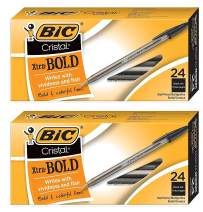 BIC Cristal Xtra Bold Ball Point (1.6mm), Black, 48 Count