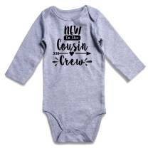 TUONROAD Baby Bodysuit Aunt Cousin Letter Print Onesies Romper Long Sleeve Playsuit for Girl Boy 0-12Months