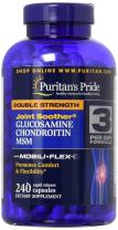 Puritans Pride Double Strength Glucosamine Chondroitin & Msm Joint Soother, 240 Count