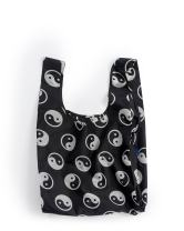 BAGGU Standard Reusable Shopping Bag, Eco-friendly Ripstop Nylon Foldable Grocery Tote, Yin Yang