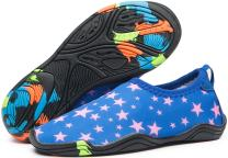 eslla Kids Water Shoes Slip-on Quick Drying Boys Girls Beach Swimming Water Sports Aqua Shoes
