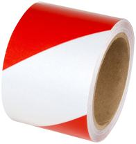 Incom RST147 Engineer Grade High Visibility Reflective Adhesive Tape, 4 inch x 30 ft., Red / White – indoor / outdoor on railings, trailers, post
