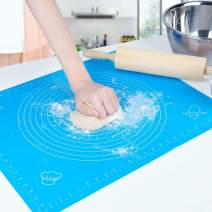 Silicone Pastry Mat With Measurements - Non-Stick Baking Rolling Dough Mat 1 Pack