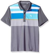 PUMA Golf Kids Mens Road Map Asymmetrical Polo Jr (Big Kids)