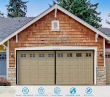 Magnetic Garage Door Screen for 2 Car Garage 16×7 FT- Heavy Duty Weighted Garage Curtain Mesh Net for Falling Leaves, Sun Protection, Breathable…