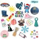 50 Pcs VSCO Stickers for Hydro Flask, Water Bottles Laptop Vinyl Trendy Stickers for VSCO Girls, Kids, Teens, Women (Multicoloured)