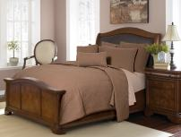 Full / Queen Quilt - Ana Mocha by Donna Sharp - Contemporary Quilt with Textured Pattern - Fits Queen Size and Full Size Beds - Machine Washable