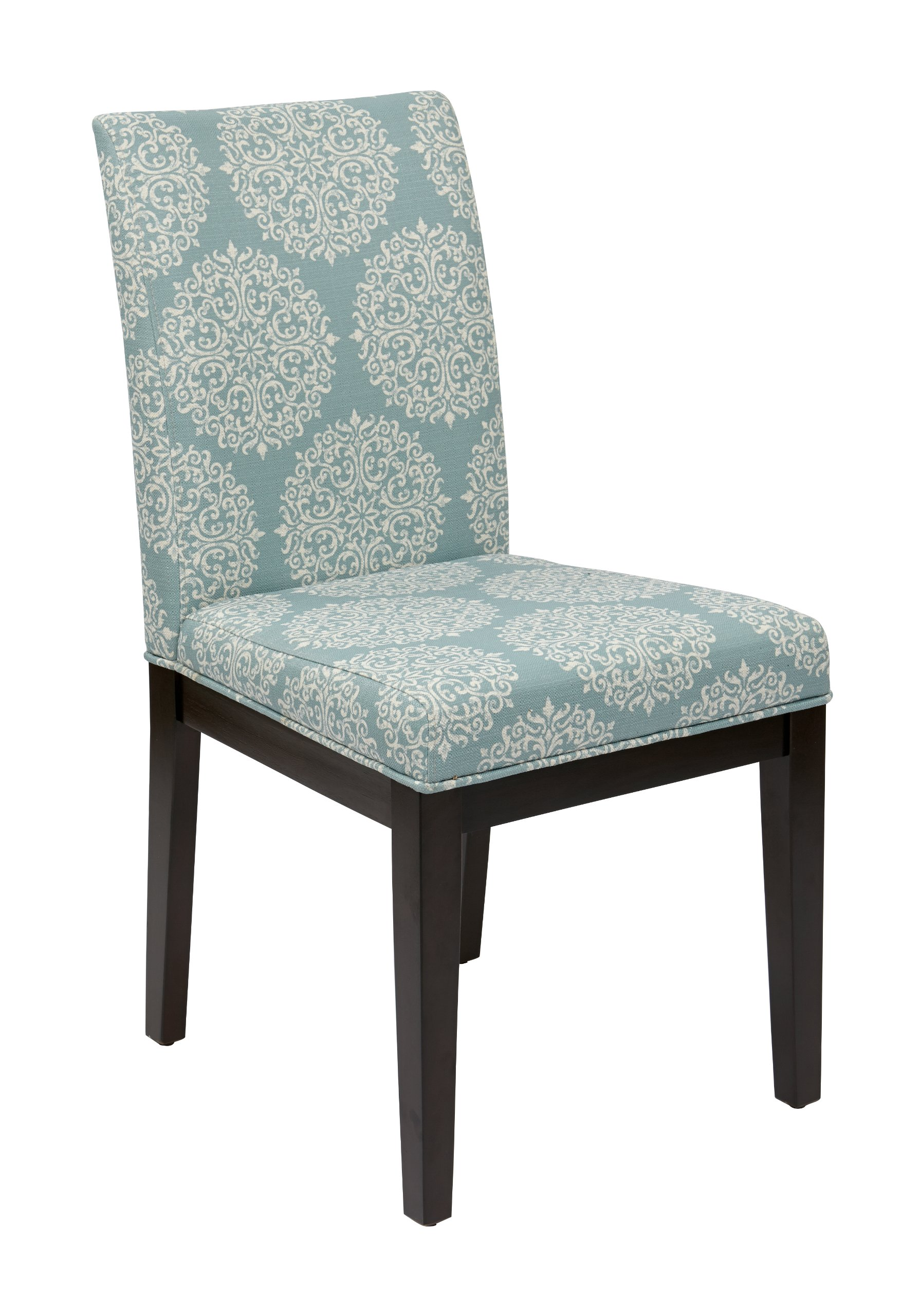 AVE SIX Dakota Upholstered Parsons Chair with Espresso Finish Wood Legs, Gabrielle Sky