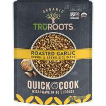 TruRoots Organic Quick Cook Quinoa and Brown Rice Blend, Roasted Garlic, 8.5 Ounces (Pack of 8)