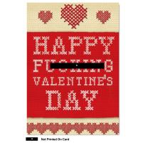 NobleWorks, Big Valentines Card for Adults (8.5 x 11 Inch) - Funny Valentine's Gift, Humor Card with Envelope - Happy F-cking Valentines 2142