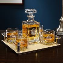 Oxford Monogram Presentation Set with Decanter & Glasses (Personalized Product)