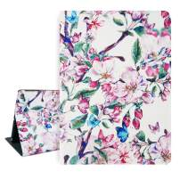 Hi Space iPad 9.7 Case Cherry Blossom iPad Air 1/2 5th/6th Gen Case 2017 2018, Pink Flowers Folio Stand Tablet Smart Case Cover Auto Sleep Wakeup Function