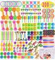Max Fun 200Pcs Random Color Assortment Toys for Kids Birthday Party Favors Prizes Box Toy Assortment Classroom Rewards,Pinata Filler Toys, Toys Treasure Box