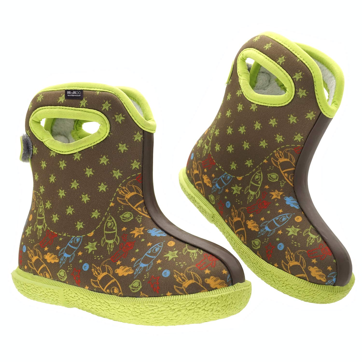 MCIKCC Baby Boots, Waterproof Rainning Boots Lightweight Adjustable Outdoor Boots Multicolor for The Infant, Toddler, Baby, Girls, Boys