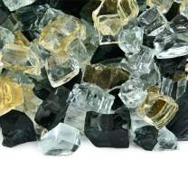 Sin City - Fire Glass Blend for Indoor and Outdoor Fire Pits or Fireplaces | 10 Pounds | 1/2 Inch