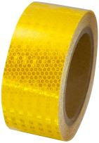 """INCOM Manufacturing: High Intensity Reflective Tape, 2"""" x 30', Yellow"""