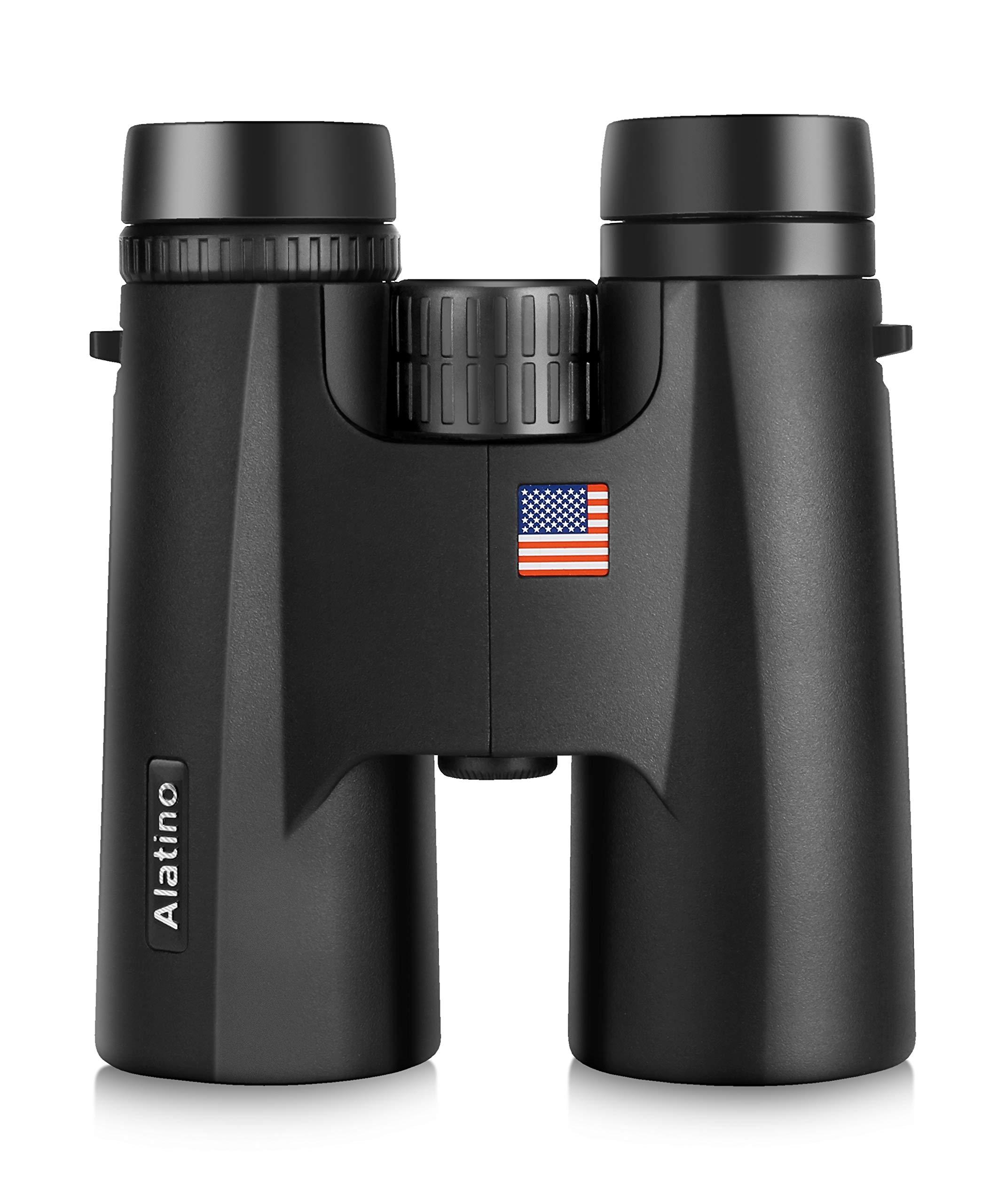 10x42 Binoculars for Adult Beginners, 18mm Large View Eyepiece Roof Prism Binoculars for Bird Watching, Hunting and Outdoor Activities