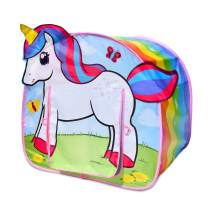Sunny Days Entertainment Unicorn Adventure Pop Up Play Tent – Rainbow Princess Indoor Tent for Kids | Assembly Free and Easy Storage