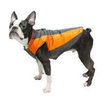 Gooby - Trekking Jacket, Small Dog Fleece Lined Jacket with Water Resistant Shell and Leash Ring
