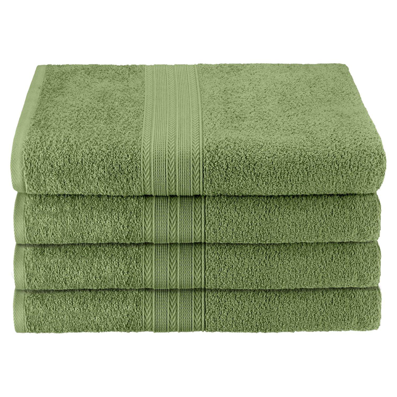"Superior Eco-Friendly 100% Ringspun Cotton, 4 Piece Bath Towel Set (27"" x 54"") in Terrace Green"