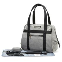 SoHo Bushwick Large Diaper Tote Bag 5Pc Purse Gray