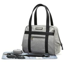 SoHo Bushwick Large Diaper Tote Bag 5Pc Purse Gray
