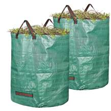 EIIORPO Garden Waste Bags 2 Pack,Durable Garden Bags 32/72/80 Gallon Leaf Bags with Handles,Reusable Yard Waste Bags for Yard/Garden/Lawn (2-Pack-80 Gallon)