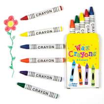 Baker Ross Mini Wax Crayons for Kids Party Bags, Arts and Crafts Supplies and School Classroom Supplies (Pack of 8 Boxes)