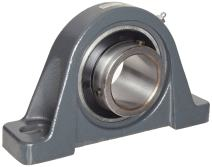 """Browning VPS-319 Pillow Block Ball Bearing, 2 Bolt, Setscrew Lock, Contact and Flinger Seal, Cast Iron, Inch, 1-3/16"""" Bore, 1-7/8"""" Base To Center Height"""