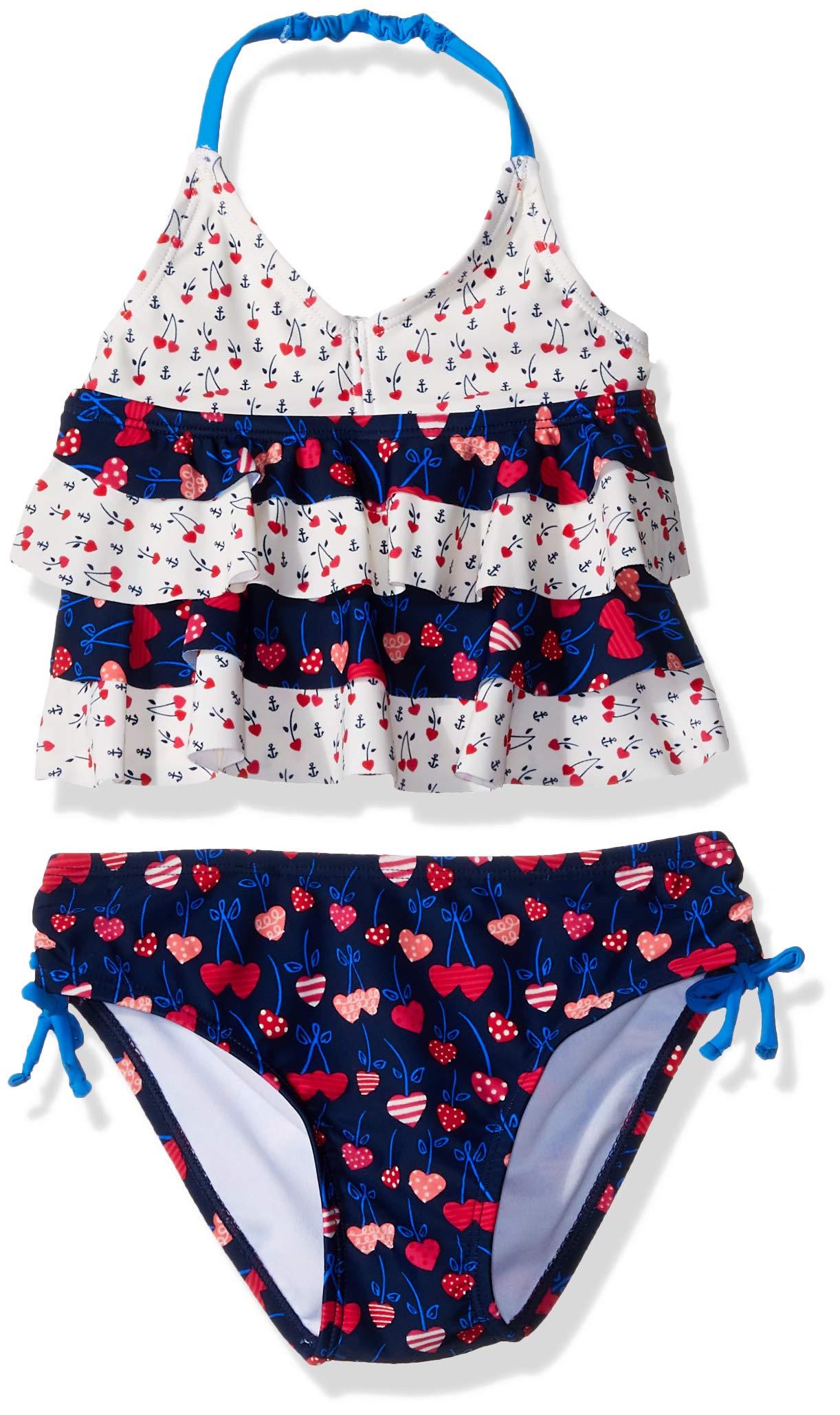KIKO & MAX Girls' Ruffle Top Bikini Swimsuit Bathingsuit