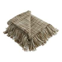 DII Organic Modern Varigated Acrylic Woven Throw, 50x60, Stone