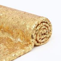 Sequin Fabric 1 Yard Wedding Sparkly Fabric Gold Sequin Tablecloth for Fabric Dress DIY Fabric