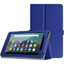 TiMOVO Case Fits All-New Fire 7 Tablet (9th Generation, 2019 Release) - Lightweight Smart Shell Slim Folding Cover Case with Auto Wake/Sleep Fit Amazon Fire 7 Tablet - Blue