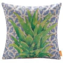 LINKWELL Pineapple Outdoor Pillow Cover Decorative Throw Pillow Cover 18x18 Inches Blue Moroccan Style Decorative Cushion Case Accent Home Decoration CC1800
