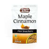 Flax Crackers, Maple & Cinnamon, Organic, 4oz (6-pack)