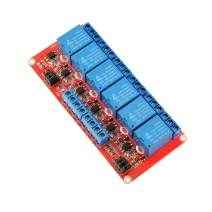 Oiyagai 6 Channel Relay Module with Optocoupler High and Low Level Trigger for Arduino Raspberry Pi DSP AVR PIC ARM (12V)