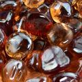 Fiery Sunset - Blended Fire Glass Diamonds for Indoor and Outdoor Fire Pits or Fireplaces | 10 Pounds | 1 Inch