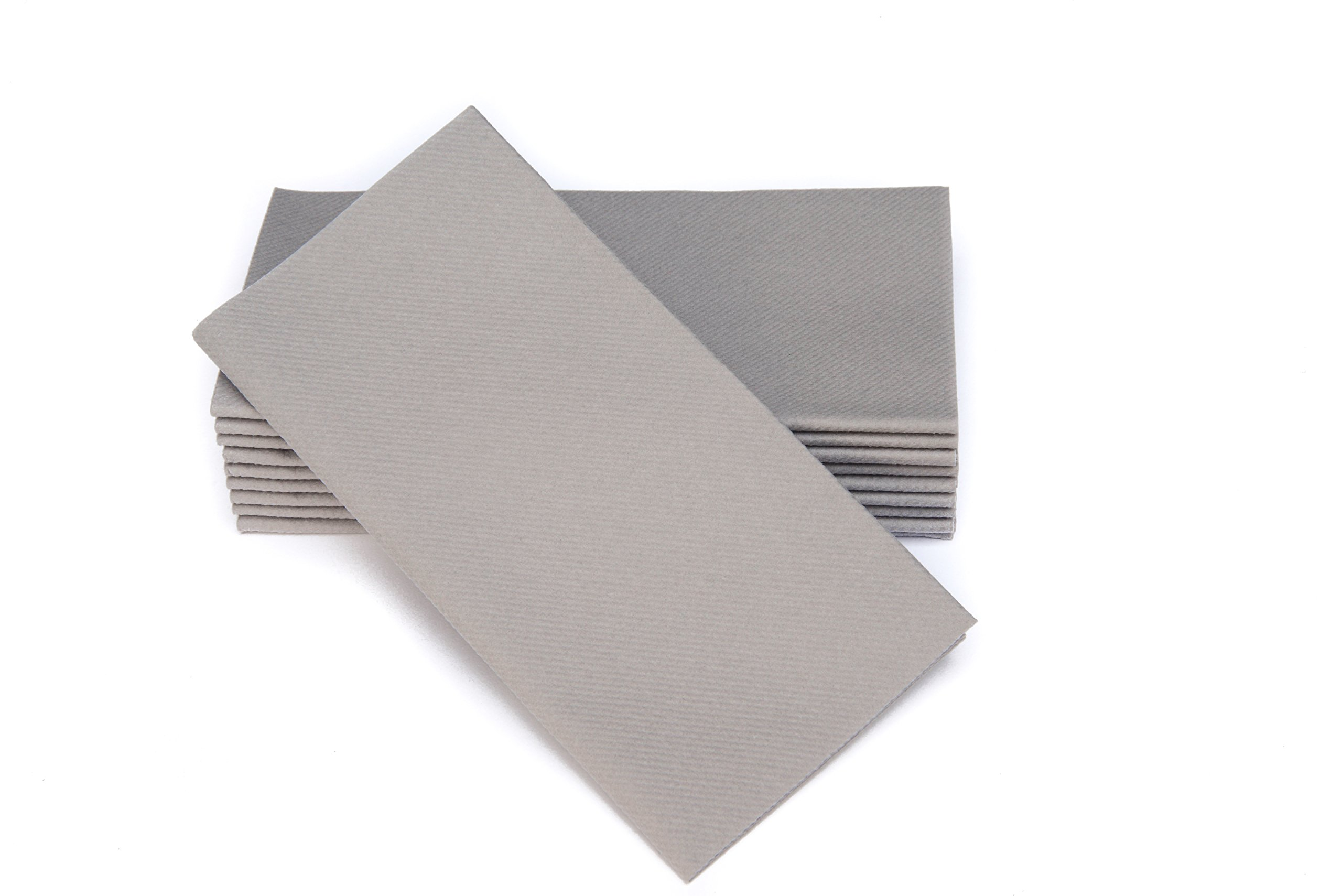 """Simulinen Colored Napkins - Decorative Cloth Like & Disposable, Dinner Napkins - Rich Gray - Soft, Absorbent & Durable - 16""""x16"""" - Great for Any Occasion! - Box of 50"""